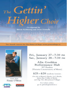 choir-poster for Power of Hope benefit concert